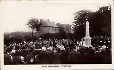 Weston with Gayton near Stafford. War Memorial Ceremony by Wm. Shaw.