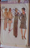 6609 Simplicity SEWING Pattern Misses Cardigan Top Pants 12