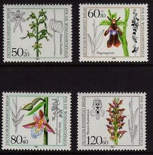 Germany Berlin 1984  Humanitarian Relief - Orchids SG B686-B689 MNH