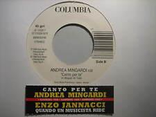 """ENZO JANNACCI """" Quando un musicista..""""MINGARDI """"Cantoxte""""-RARO 45 PROMO JB+STICK"""