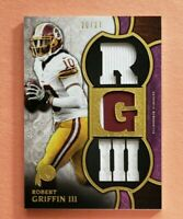 2015 Topps Triple Threads, Robert Griffin III, Jumbo Game Used Jersey, #d 20/27