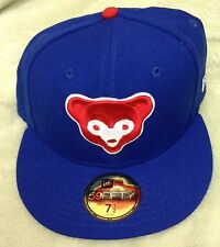 New Era Chicago Cubs Royal Blue Cub Head Diamond Era 59FIFTY Fitted Hat 7 1/2