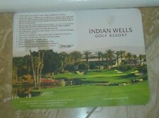 Indian Wells Golf Score Card-Celebrity Course Indian Wells,California-New/Unused