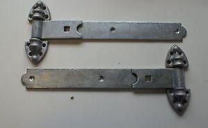"""reversible hinges heavy duty for gates & doors 14"""" in galvanised pack 1 pair"""