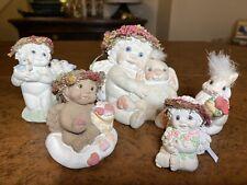 90s Dreamsicles Lot Ceramic Baby Angel Bunny Rabbit Best Buddies