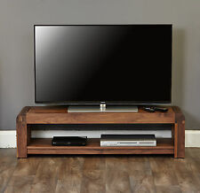 Shiro solid walnut modern furniture low widescreen television cabinet stand unit