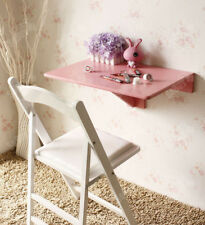 SoBuy® Folding Wood Wall-mounted Drop-leaf Table Desk, 60x40cm, Pink,FWT03-P, UK