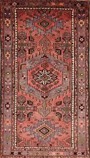 Excellent Geometric Pink Color 4x7 Hamadan Persian Oriental Area Rug 7' 5 x 4' 2