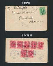 1905 HONDURAS COVER TO GERMANY, 8 STAMP FRANKING TEGULCIGALPA CDS