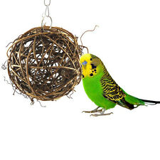 Pet Bird Bites Toy Parrot Chew Ball Toys Swing Cage Hanging Cockatiel Parakeet
