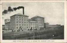 Garden City KS Beet Sugar Mills c1910 Postcard