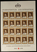 Sello LIECHTENSTEIN Stamp Yvert y Tellier nº478 x20 De Hecho De La Hoja N Y5