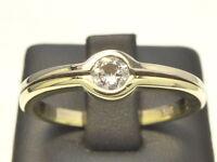Ring 585 GOLD bague or Brillant Diamant diamond anello anillo oro anel 14kt