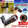 HD 12x Optical Zoom Clip on Camera Lens Phone Telescope Universal Cell Phone UK