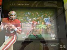JOE MONTANA Autographed 16 x 20 49ers Shadowbox UPPER DECK EXCLUSIVE!