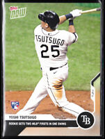 Yoshi Tsutsugo Tampa Bay Rays Rookie 1st Hit a HR 2020 TOPPS NOW 10 RC