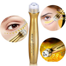 24K Gold Roll on Eye Cream Anti Ageing Dark Circle Collagen Essence Care Crystal