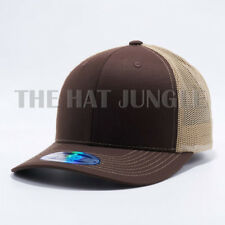 Plain Cambridge Trucker Snapback Hat Meshback Baseball Cap Curved Bill Khaki