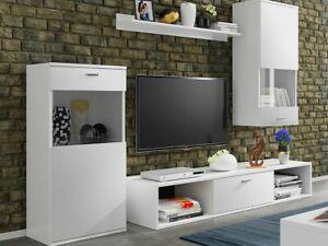 Wohnwand Cena Wohnzimmer-Set Wohnmöbel Anbauwand Schrankwand Modern M24
