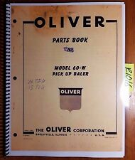 Oliver Model 60-W Pick Up Baler Parts Book Catalog Manual S5-9-K2-2 3/58