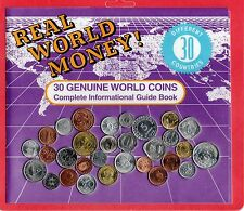 30 Mint Coins from 30 Countries, with Information Guide Booklet - Great for kids