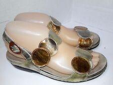 HELLE COMFORT Tula Bronze Multi Women's Sandals Shoes Size 38