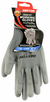 Dekton Snug Fit Grey Working Gloves Pu Coated 10/Xl Protective Gardening And Wor