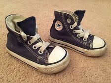 All Stars Converse High Top Pumps Trainers Shoes Boots Navy Canvas Uk Infant 3