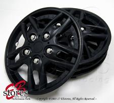 "4pc Set 15 inch Wheel Rim Skin Cover Hubcap Hub caps (15"" Matte Black Style#515)"