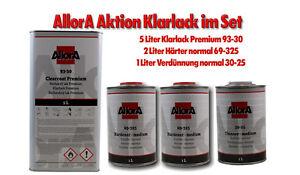 AllorA 2K Premium Klarlack Set (7,5 Liter Set) +Härter +Verdünnung +Niveaset