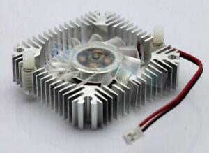 12V DC 2-Pin 55mm CPU VGA Video Card Chip Cooler Cooling Fan & Heatsink Computer