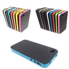 Hybrid Double Colour Soft Back Hard Sides Edge Case Cover for Mobile Phones