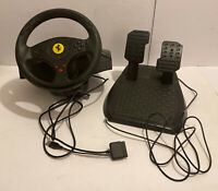 PLAYSTATION 3 PC THRUSTMASTER FERRARI GT 3in1 RACE WHEEL & PEDALS V.2 (Untested)