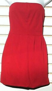 Women's Strapless Little Red Dress by Express (00425)