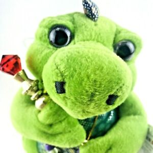 Fergusson Gus the Friendly Dragon Fairy Plush Stuffed Animal 2001 Aurora Green