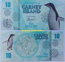 Carney Island - ANTARCTICA 10 DOLLARS 2016 UNC Private Issue