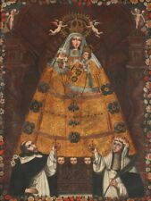 PAINTING ANON (CUSCO SCHOOL) OUR LADY OF THE ROSARY WALL POSTER ART PRINT LF3204