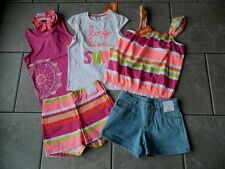 Size 8 years outfit Gymboree,Bright and Beachy,NWT,tops,shorts,hairtie,6 pc.set