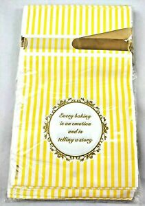 Cookie Bag 30 Pcs Thank You Treat Bags Yellow Stripe Ribbon Tie 9X6 Every Baking