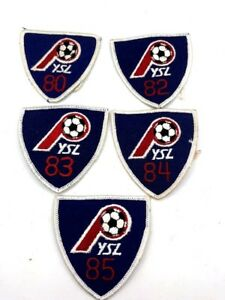 5ct Soccer Club YSL Patches CA California 1980s Embroided New