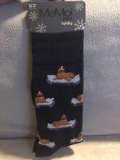 MeMoi Men Holiday Crew Socks Size 10-13 Christmas Walrus New