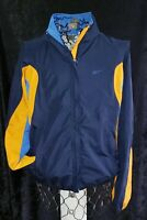 Vintage 90s Blue Orange Reebok Track Jacket Windbreaker Full Zip Mens Size L