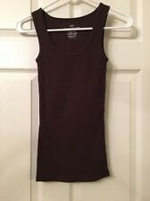 """Ladies Faded Glory Cotton Sleeveless Tee """" Brown Size X/S New ❤"""