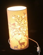 Deer Stags and Birds Country Scene table lamp or bedside lamp