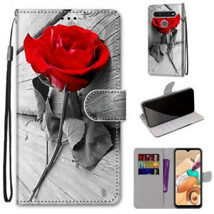 For LG K61 Case Cover Cute Cartoon Painted Magnetic Leather Flip Stand Wallet