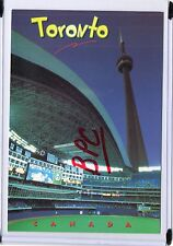 THE TOWER AS SEEN FROM INSIDE SKYDOME SPORTS STADIUM-TORONTO,CANADA