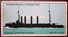Imperial Russian Navy World War 1  Bayan Class Cruiser   Silhouette 1915 Card