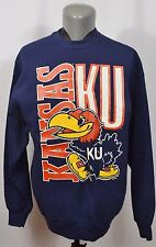 VTG Kansas Jayhawks Sweatshirt Sweater NCAA Football Basketball College XL