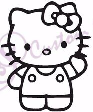 HELLO KITTY Funny Vinyl Sticker, Car Window, Wall, 11 Colours Girl Cartoon