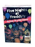 Five Nights at Freddy's Board Game SURVIVE TIL 6 AM FNAF Game Funko New In Hand